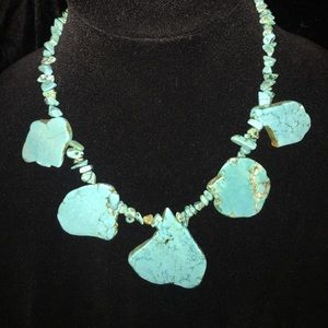 Real Stone turquoise necklace